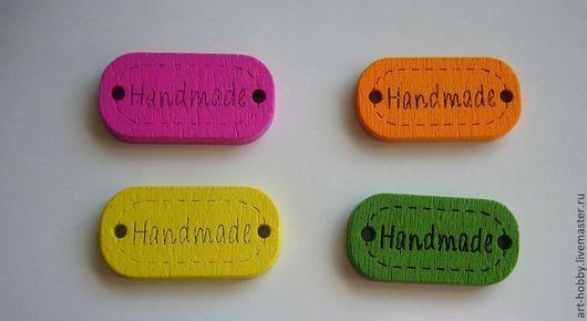 """Для украшений ручной работы. Ярмарка Мастеров - ручная работа. Купить Бирка """"Handmade"""". Handmade. Бирка, handmade, бирка цветная"""