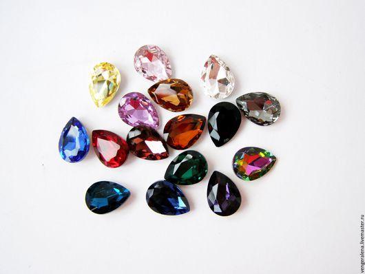 """Для украшений ручной работы. Ярмарка Мастеров - ручная работа. Купить Капли кристаллы 13""""18 мм хрусталь ассортимент. Handmade."""