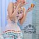Корсет шелковый  эксклюзивный класса luxe `Пташечка` с кружевом шантильи от JULINA