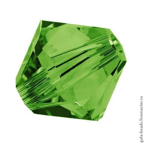 Для украшений ручной работы. Ярмарка Мастеров - ручная работа. Купить Биконусы Swarovski Fern Green ( 3, 4, 5, 6 мм) 10 шт. Handmade.