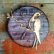 """Для дома и интерьера ручной работы. Ярмарка Мастеров - ручная работа Часы """"Ласточка"""". Handmade."""