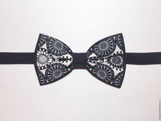 """Галстуки, бабочки ручной работы. Ярмарка Мастеров - ручная работа. Купить Галстук - бабочка """"Мандала"""". Handmade. Чёрно-белый, мандала"""
