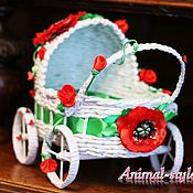 Accessories for Pets handmade. Livemaster - original item wicker stroller for photo shoots kittens and puppies