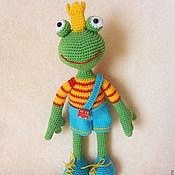 Куклы и игрушки handmade. Livemaster - original item The Frog - King.Knitted toy.. Handmade.