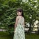 Одежда для девочек, ручной работы. Ярмарка Мастеров - ручная работа. Купить Платье-сарафан с бантиком. Handmade. Салатовый, праздничное платье