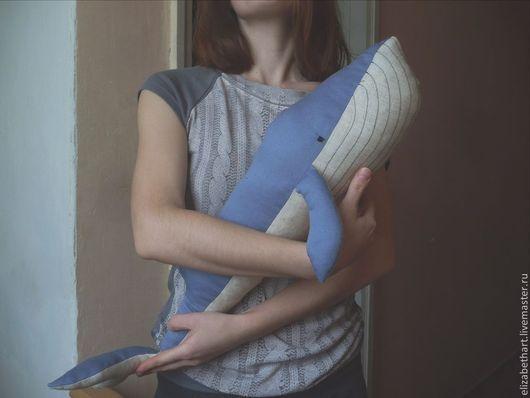 Игрушки животные, ручной работы. Ярмарка Мастеров - ручная работа. Купить Кит. Handmade. Разноцветный, синий цвет, интерьерная игрушка
