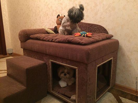 Аксессуары для собак, ручной работы. Ярмарка Мастеров - ручная работа. Купить Домик для собаки с диванчиком сверху, который подойдет и кошке.. Handmade.