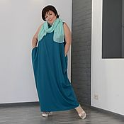 Одежда handmade. Livemaster - original item SALE 50%Dress-rhombus sleeveless sea wave. Art. 0205. Handmade.