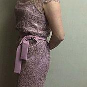 Одежда ручной работы. Ярмарка Мастеров - ручная работа Платье вечернее,кружевное, короткое.Платье на заказ.. Handmade.
