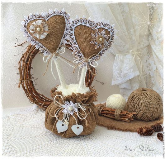 """Подарки для влюбленных ручной работы. Ярмарка Мастеров - ручная работа. Купить Топиарий """"Два  любящих сердца"""" подарок для влюблённых. Handmade."""