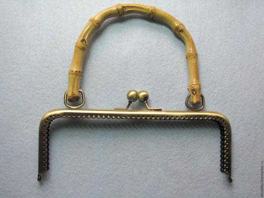 Другие виды рукоделия ручной работы. Ярмарка Мастеров - ручная работа. Купить Уценённый фермуар 20.5 см, с бамбуковой ручкой. Handmade.