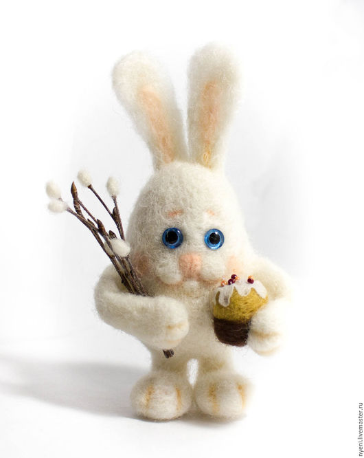 Игрушки животные, ручной работы. Ярмарка Мастеров - ручная работа. Купить Пасхальный кролик. Handmade. Белый, заяц, валяный кролик