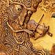 """Фантазийные сюжеты ручной работы. Резная картина """"Древень"""". Paulus. Ярмарка Мастеров. Резьба по дереву, дерево липа"""