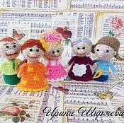 """Куклы и игрушки handmade. Livemaster - original item Пальчиковый театр """"Дружная семейка"""". Handmade."""