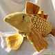 Текстиль, ковры ручной работы. Заказать Подушка рыба золотая. Евгения  jzhem (буфы и шаблоны). Ярмарка Мастеров. Подушка