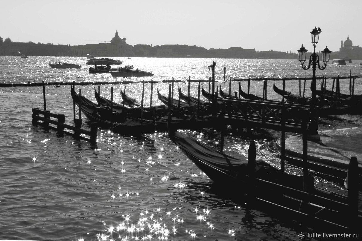 Lu. `Солнце на воде...` Авторская фотокартина, Венеция, 2011 г.