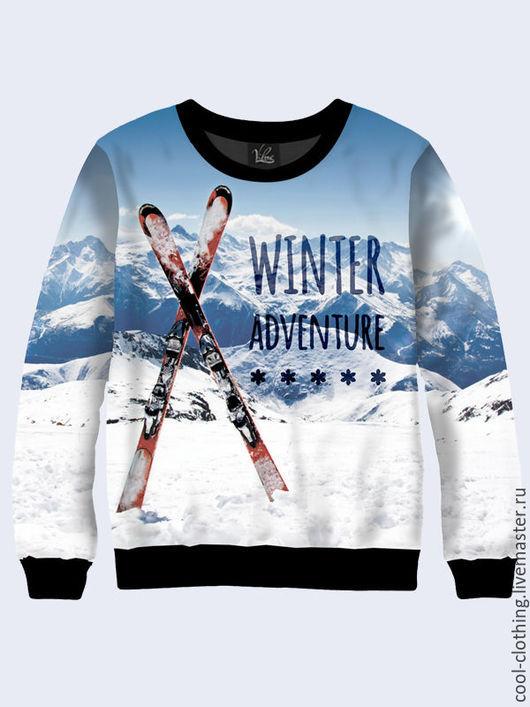 """Кофты и свитера ручной работы. Ярмарка Мастеров - ручная работа. Купить Свитшот """"Winter Adventure"""". Handmade. Синий, повседневная одежда"""