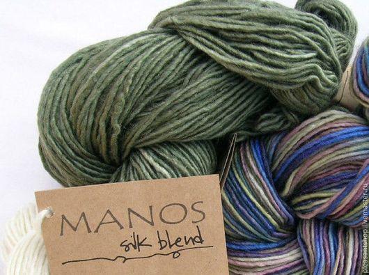Вязание ручной работы. Ярмарка Мастеров - ручная работа. Купить Manos Silk Blend DK OLIVE. Handmade. Оливковый