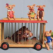Куклы и игрушки ручной работы. Ярмарка Мастеров - ручная работа Поросята и кабан.. Handmade.
