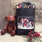 Подарки к праздникам ручной работы. Ярмарка Мастеров - ручная работа Новогодний мешок для подарков. Handmade.