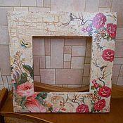 Подарки к праздникам ручной работы. Ярмарка Мастеров - ручная работа Рамки для фотографии или для зеркала. Handmade.