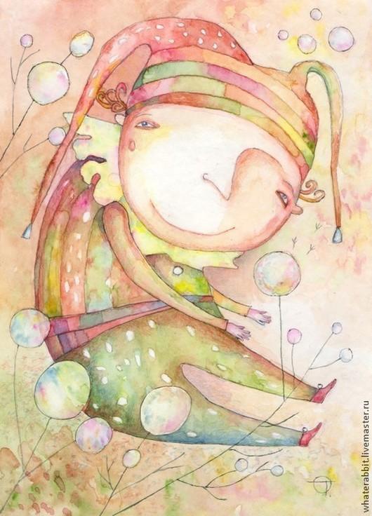 Фантазийные сюжеты ручной работы. Ярмарка Мастеров - ручная работа. Купить Одуванчики). Handmade. Картина, картина в подарок, детское, сказка