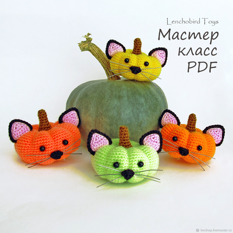 Amigurumi Halloween Pattern. Crochet Pumpkin pattern. Amigurumi cat, Knitting patterns, Barnaul,  Фото №1