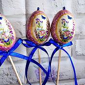 Яйца ручной работы. Ярмарка Мастеров - ручная работа Декоративные  яйца в технике декупаж.. Handmade.