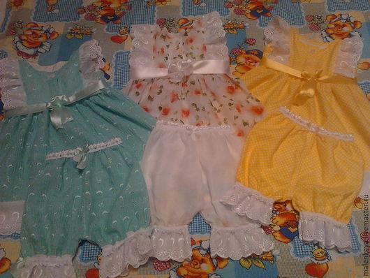 Пижама для малышей `Маленькая принцесса - 2` шитье, батист, американская фланелька хлопок 100%. Авторская работа.Наталья.