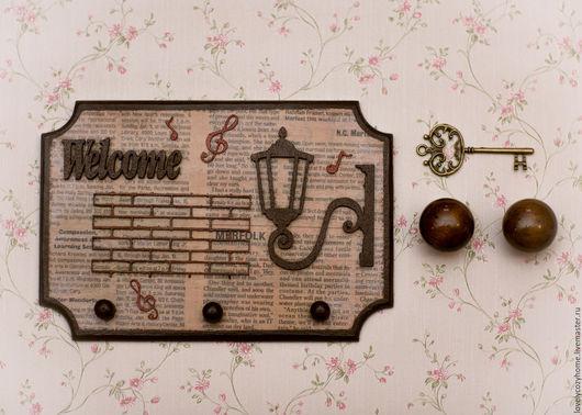 """Прихожая ручной работы. Ярмарка Мастеров - ручная работа. Купить Ключница """" Добро пожаловать домой"""". Handmade. Комбинированный"""