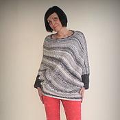 Одежда ручной работы. Ярмарка Мастеров - ручная работа Вязаный свободный свитер. Handmade.