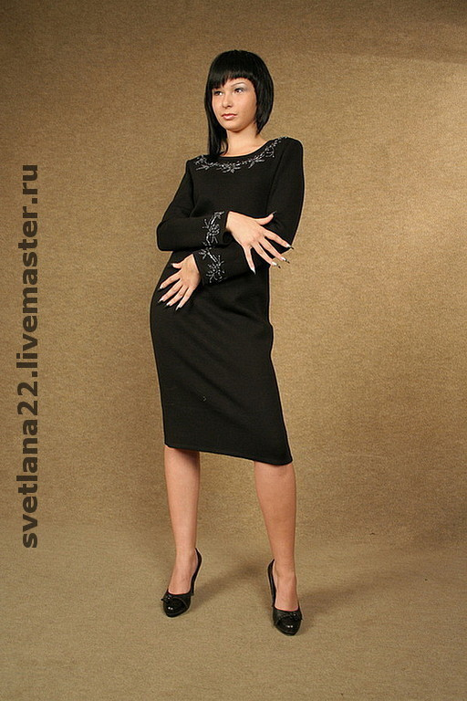 "Dresses handmade. Livemaster - handmade. Buy Knitted dress ""Office"".Knitted dress, woolen dress, fancy dress, wool"
