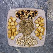 Посуда handmade. Livemaster - original item Square oak menagerie, color