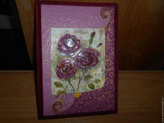 """Картины цветов ручной работы. Ярмарка Мастеров - ручная работа. Купить картина панно """"красивые розы"""". Handmade. Бордовый"""
