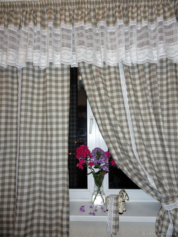 выгодные фото льняных штор для кухни подборка