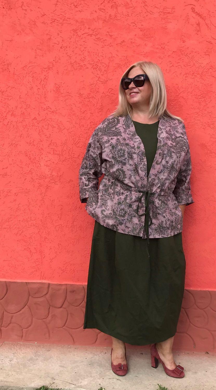Платье и жакет -кимоно изо льна, Платья, Покров,  Фото №1