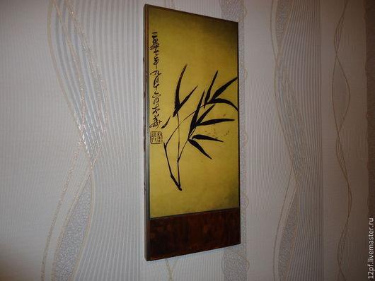 Символизм ручной работы. Ярмарка Мастеров - ручная работа. Купить Ветвь бамбука 1. Handmade. Картина, бамбук, для интерьера, для дома