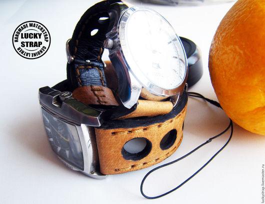 Часы ручной работы. Ярмарка Мастеров - ручная работа. Купить Ремешок для часов из натуральной кожи.. Handmade. Желтый, натуральная кожа