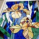 Irises. Stained glass. Stained glass. Glass Flowers. My Livemaster. Фото №5