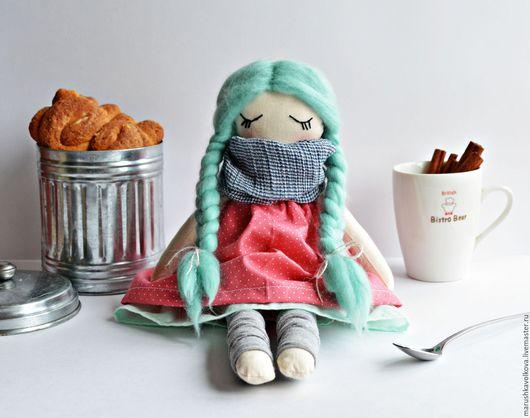 Коллекционные куклы ручной работы. Ярмарка Мастеров - ручная работа. Купить Куколка Мотя. Handmade. Мятный, кукла в подарок