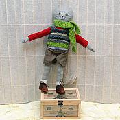 Куклы и игрушки ручной работы. Ярмарка Мастеров - ручная работа Игрушка котик кот в одежде. Handmade.