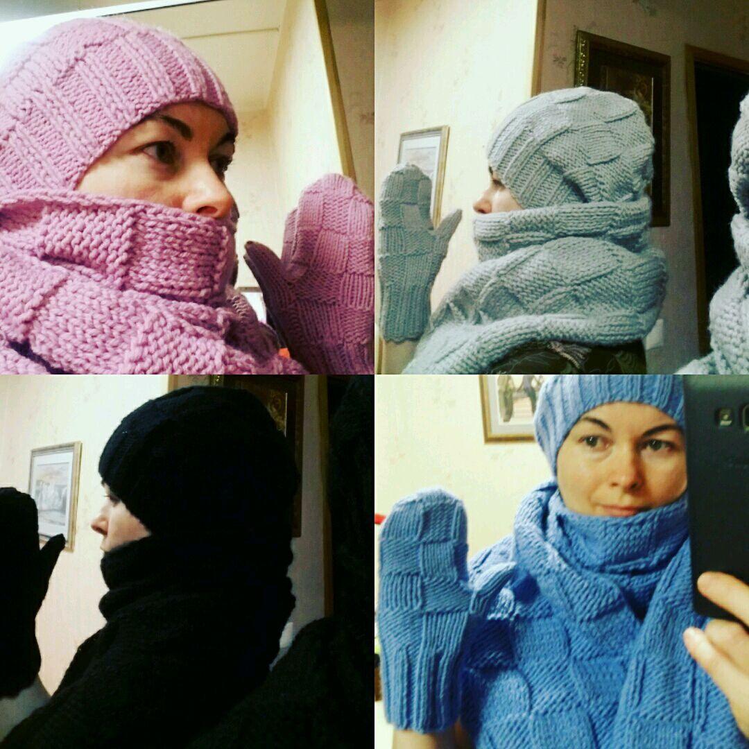 e5267f69457 Шапка варежки шарф – купить в интернет-магазине на Ярмарке Мастеров ...