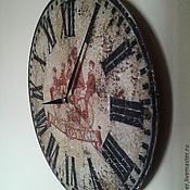 """Для дома и интерьера ручной работы. Ярмарка Мастеров - ручная работа Часы настенные 30 см деревянные """"Бон Вояж"""" W0316. Handmade."""