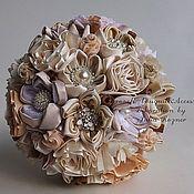 Wedding bouquets handmade. Livemaster - original item Brooch-bouquet