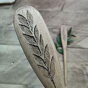 Шпилька ручной работы. Ярмарка Мастеров - ручная работа Шпилька из липы. Handmade.