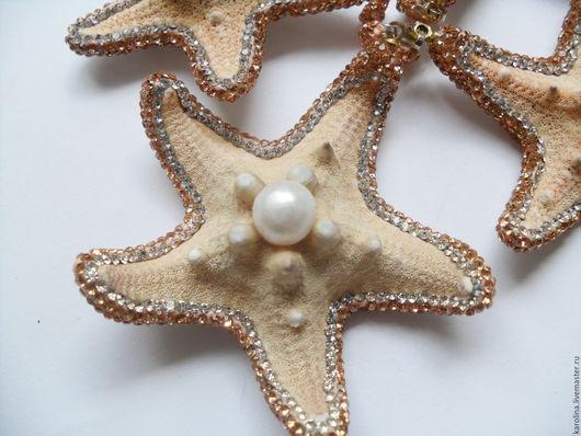 Для украшений ручной работы. Ярмарка Мастеров - ручная работа. Купить подвеска из морской звезды. Handmade. Бежевый, кулон