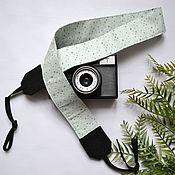 Аксессуары handmade. Livemaster - original item Camera belt Mint, photo accessories, gift to the photographer. Handmade.