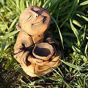 Amulet handmade. Livemaster - original item Ceramic figurine Hotei. Handmade.