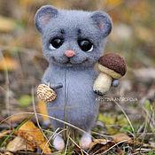 Куклы и игрушки handmade. Livemaster - original item Mouse felted toy. Handmade.