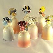 Сувениры и подарки handmade. Livemaster - original item Collection of porcelain bells